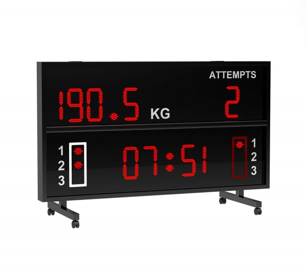 BS 120 WEIGHT LIFTING SCOREBOARD