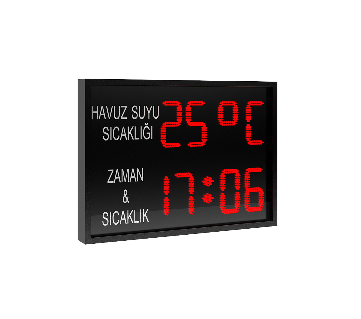 BS 152 POOL WATER TEMPERATURE, TIME, TEMPERATURE OUTDOOR PANEL