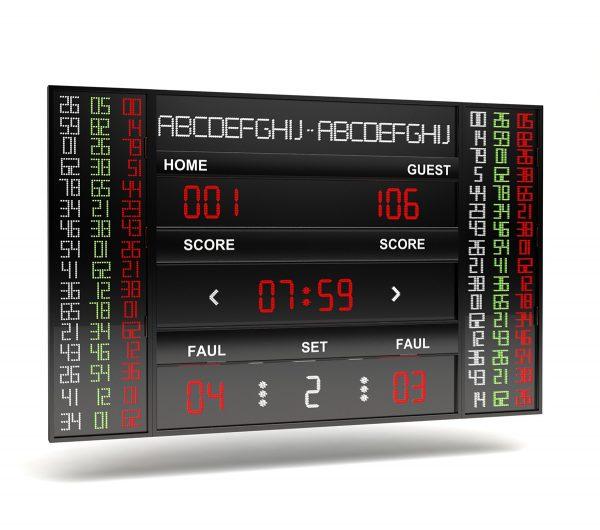 BS 155 – 16 LINE NBA TYPE SCOREBOARD LEVEL 2